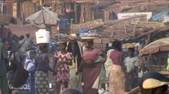 Street market Stock Footage