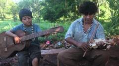 Mbya Guarani Folk Music (Argentina) Stock Footage
