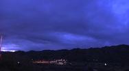 Overcast Night Sky Stock Footage