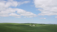 Timelapse Clouds Farm Palouse Hills Wheat Field Stock Footage