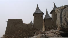 Granaries of Dogon - stock footage