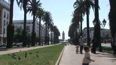 Boulevard Mohamed V, Rabat - stock footage