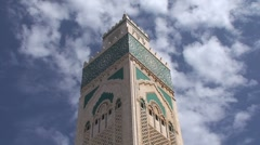 Hassan II Mosque Stock Footage