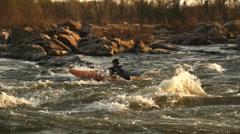 Whitewater Kayak #7 Stock Footage