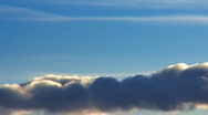 Clouds on evening sun Stock Footage
