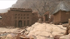 Dogon house Stock Footage