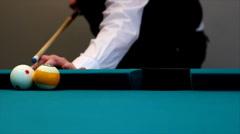 Billiard Pool, trick shot Stock Footage