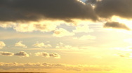 Clouds on evening sun Stock Footage