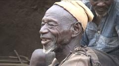 Village elder speaks, goodbye Stock Footage