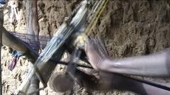 Handwork of weaver Stock Footage