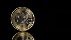 Euro coin Stock Footage