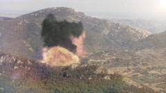 Explosion Hills Stock Footage