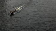 Boats Traffic, Chao Phraya River in Bangkok, Thailand, View from Taksin Bridge Stock Footage