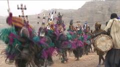 Dogon maskdance Stock Footage