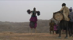 Dogon maskdance - stock footage