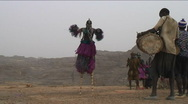 Stock Video Footage of Dogon maskdance