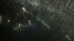 Suicidal Man or Killer in his Car (3) Stock Footage