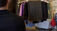 Stock Video Footage of Dry Cleaners Employee