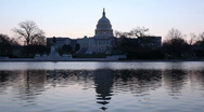 Stock Video Footage of Capitol building in Washington at dawn