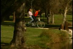 Couple on Bike Stock Footage