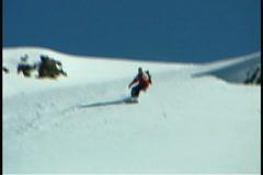 Rabbit tracks in snow - stock footage