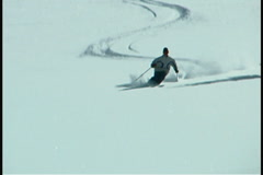 Skier - stock footage