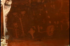 Petroglyphs Stock Footage