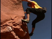 Stock Video Footage of Rock Climbing