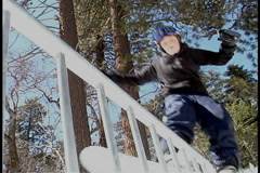 Young snowboarder - stock footage