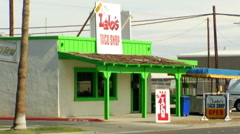 Small Taco Stand- Brawley CA Stock Footage