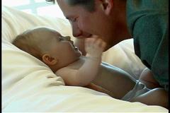 Mother nursing baby - stock footage