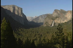 Bridal Veil Falls, Yosemite, CA Stock Footage