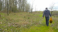 Stock Video Footage of Hiker Walking on Grassy Path 2