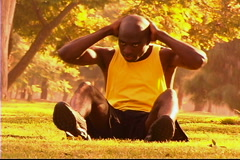 Sit-ups Stock Footage