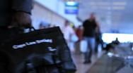 People walking in Airport BLURRED GFHD Stock Footage