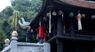 Stock Video Footage of Vietnamese Buddhist Temple, The One Pillar Pagoda in Hanoi, Vietnam, Religious