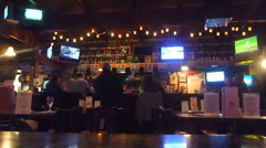Sports Bar Restaurant Time Lapse Stock Footage