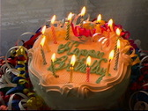 Stock Video Footage of Birthday Cake