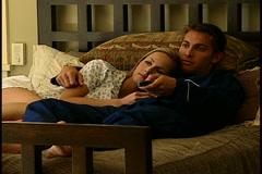 Couple in Pajamas Stock Footage