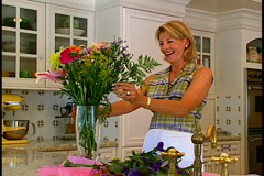 Arranging Flowers Stock Footage
