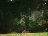 Couple in park Stock Footage