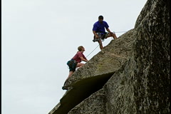 Rock Climbing - stock footage