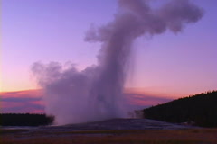 Old Faithful, Yellowstone National Park Stock Footage