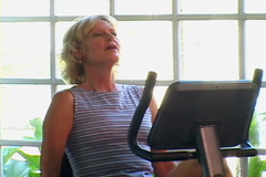 Mature Woman Working Out - stock footage