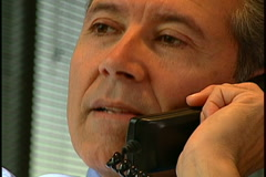 Exec on phone Stock Footage