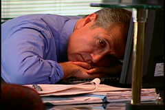 Frustrated Businessman Stock Footage