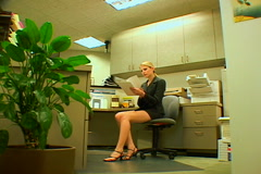 Hurried Businesswoman Stock Footage