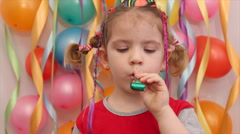 Little girl birthday Stock Footage