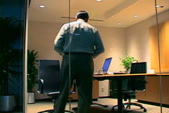 Exec in Office Stock Footage