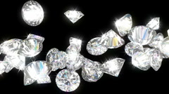 Loopable diamonds flow with slow motion. Alpha is included Stock Footage